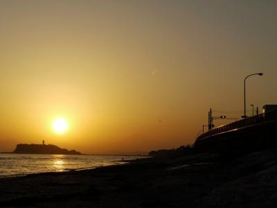 稲村ヶ崎の夕日
